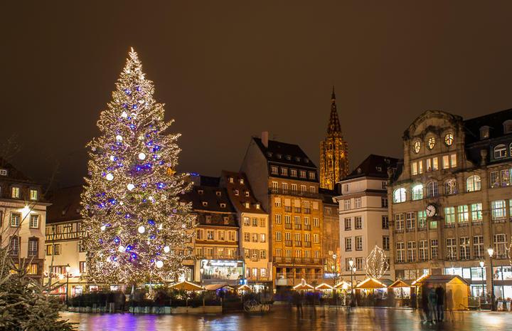 Im französichen Straßburg findet alljährlich einer der schönsten Weihnachtsmärkte statt © Leonid Andronov / Shutterstock.com