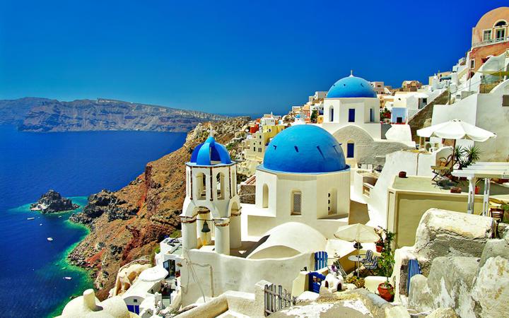 Blick über Santorin © leoks / Shutterstock.com